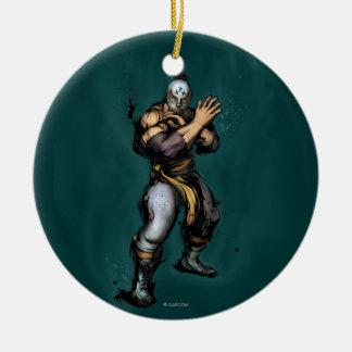 El Fuerte Blocking Double-Sided Ceramic Round Christmas Ornament