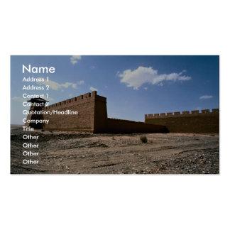 El fuerte de la ciudad antigua imitada de Huang de Tarjetas De Visita