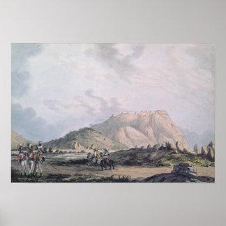 El fuerte de Nandidong durante la tercera Mysore Póster