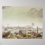 El fuerte en Batavia con los madereros nativos, pl Poster