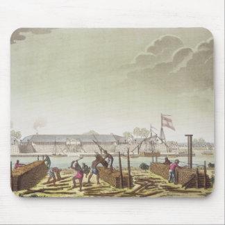 El fuerte en Batavia con los madereros nativos, pl Tapetes De Ratones