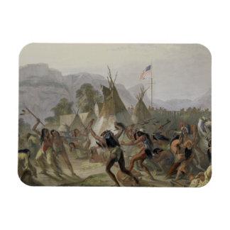 El fuerte Mackenzie, el 28 de agosto de 1833, plat Iman Rectangular