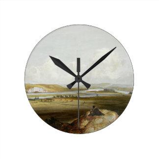 El fuerte Pedro en el Missouri, platea 10 de volum Reloj Redondo Mediano