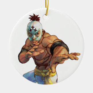 El Fuerte Ready Stance Double-Sided Ceramic Round Christmas Ornament