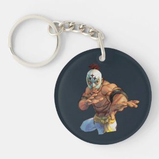 El Fuerte Ready Stance Double-Sided Round Acrylic Keychain