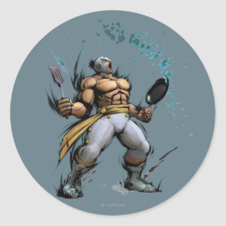 El Fuerte With Frying Pan Classic Round Sticker