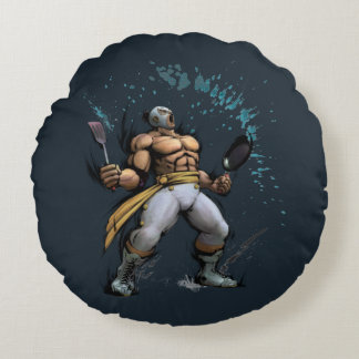 El Fuerte With Frying Pan Round Pillow