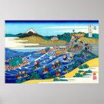 El Fuji de Kanaya, por Katsushika Hokusai Impresiones