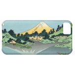 El Fuji refleja en caso del iPhone 5 de Kawaguchi
