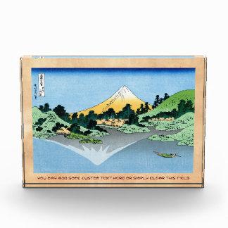 El Fuji refleja en el lago Kawaguchi Hokusai