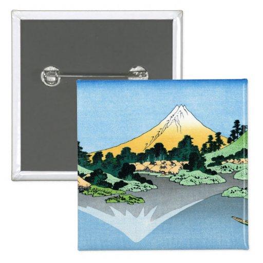 El Fuji refleja en el lago Kawaguchi Hokusai Pin