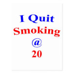 El fumar abandonado 20 tarjeta postal