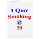 El fumar abandonado 20 tarjetas
