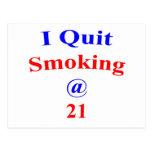 El fumar abandonado 21 postal