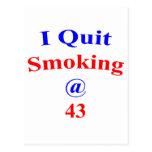 El fumar abandonado 43 tarjetas postales