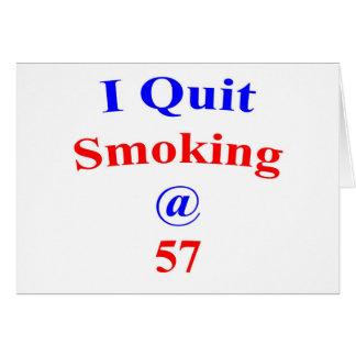 El fumar abandonado 57 felicitacion
