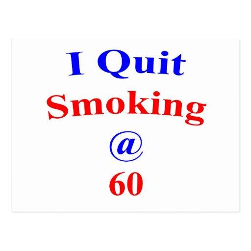 El fumar abandonado 60 postal