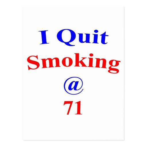 El fumar abandonado 71 postal