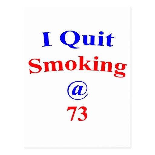 El fumar abandonado 73 tarjetas postales