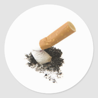 El fumar abandonado pegatina redonda
