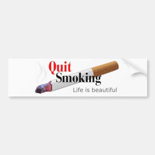 El fumar abandonado pegatina de parachoque