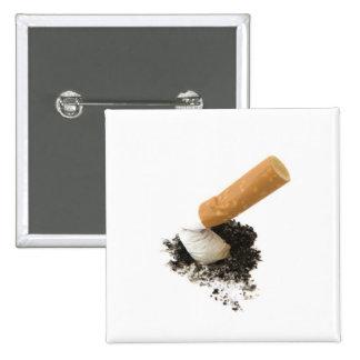 El fumar abandonado pin cuadrada 5 cm
