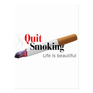 El fumar abandonado postales