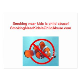 ¡El fumar cerca de niños es pederastia! regalos Tarjetas Postales