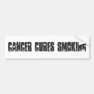 El fumar de las curaciones del cáncer pegatina de parachoque