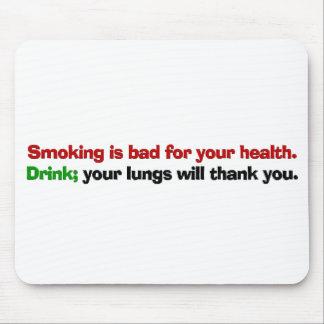 El fumar es malo para su salud mousepad