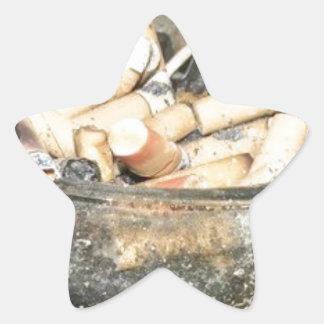 ¡El fumar es malo para usted Calcomanía Forma De Estrella Personalizada