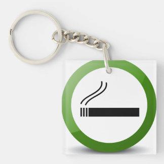 El fumar llavero cuadrado acrílico a doble cara