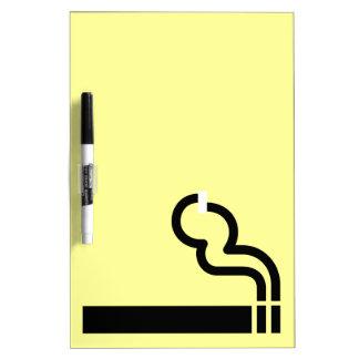 El fumar permitido pizarra