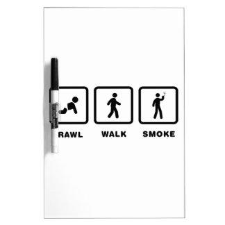 El fumar pizarras blancas de calidad