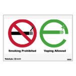 El fumar prohibido. Vaping permitió