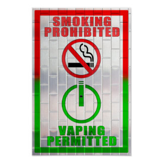 El fumar prohibido, Vaping permitió el poster