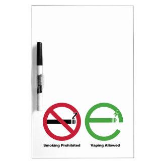 El fumar prohibido. Vaping permitió Tableros Blancos