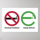 El fumar prohibido. Vaping permitió Posters