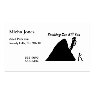 El fumar puede matarle tarjetas de visita