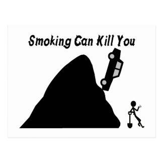 El fumar puede matarle tarjeta postal