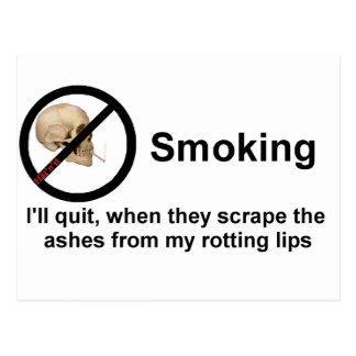 el fumar tarjetas postales