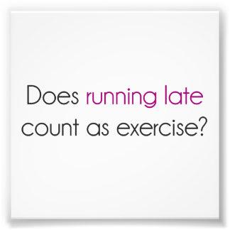 ¿El funcionamiento atrasado cuenta como ejercicio? Cojinete