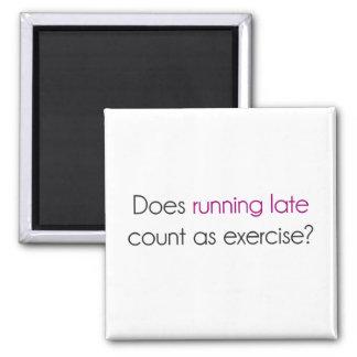 ¿El funcionamiento atrasado cuenta como ejercicio? Imán Cuadrado