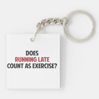 ¿El funcionamiento atrasado cuenta como ejercicio? Llavero Cuadrado Acrílico A Doble Cara