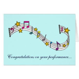 El funcionamiento de la música de la enhorabuena tarjeta de felicitación