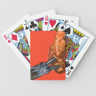 El funcionamiento de los alicates del vintage sirv cartas de juego