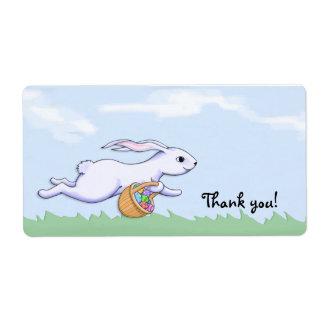 El funcionamiento del conejo de Pascua le agradece Etiqueta De Envío