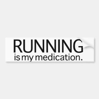 El funcionamiento es mi medicación etiqueta de parachoque