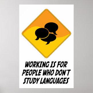 El funcionamiento está para la gente que no estudi póster
