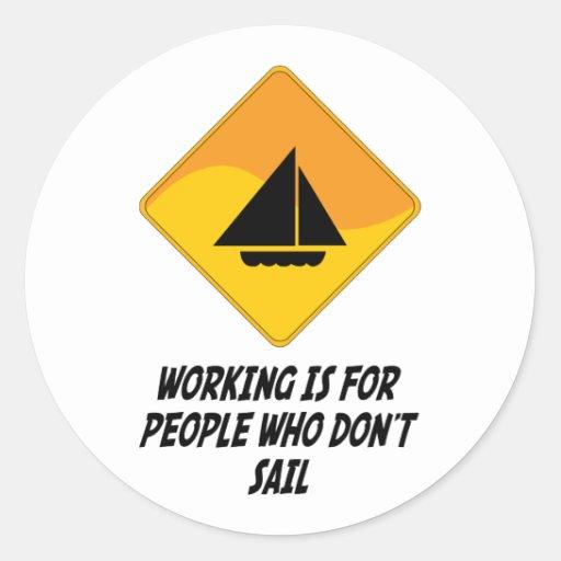 El funcionamiento está para la gente que no navega pegatina redonda